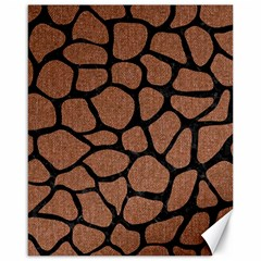 Skin1 Black Marble & Brown Denim (r) Canvas 16  X 20   by trendistuff