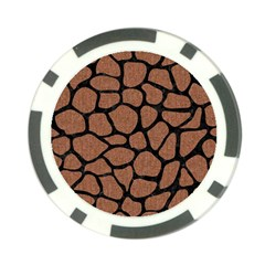 Skin1 Black Marble & Brown Denim (r) Poker Chip Card Guard by trendistuff