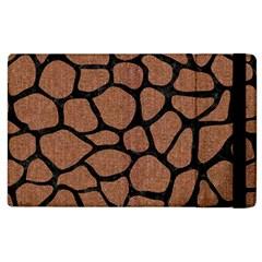 Skin1 Black Marble & Brown Denim (r) Apple Ipad 2 Flip Case by trendistuff