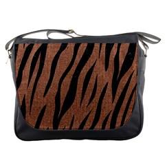 Skin3 Black Marble & Brown Denim Messenger Bags by trendistuff