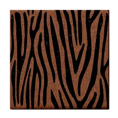 Skin4 Black Marble & Brown Denim (r) Tile Coasters by trendistuff