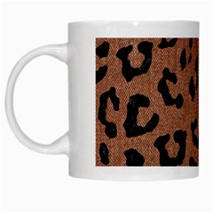 Skin5 Black Marble & Brown Denim (r) White Mugs by trendistuff