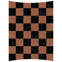 Square1 Black Marble & Brown Denim Back Support Cushion