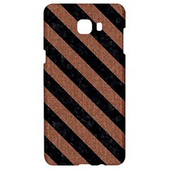 Stripes3 Black Marble & Brown Denim Samsung C9 Pro Hardshell Case  by trendistuff