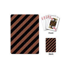 Stripes3 Black Marble & Brown Denim (r) Playing Cards (mini)  by trendistuff