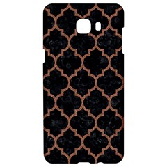 Tile1 Black Marble & Brown Denim (r) Samsung C9 Pro Hardshell Case  by trendistuff