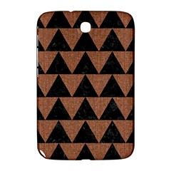 Triangle2 Black Marble & Brown Denim Samsung Galaxy Note 8 0 N5100 Hardshell Case  by trendistuff