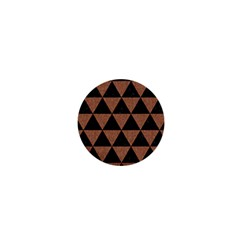 Triangle3 Black Marble & Brown Denim 1  Mini Magnets by trendistuff