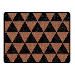 Triangle3 Black Marble & Brown Denim Fleece Blanket (small) by trendistuff
