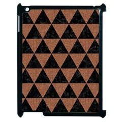 Triangle3 Black Marble & Brown Denim Apple Ipad 2 Case (black) by trendistuff