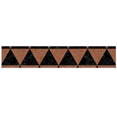 Triangle3 Black Marble & Brown Denim Large Flano Scarf  by trendistuff