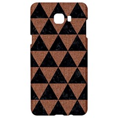 Triangle3 Black Marble & Brown Denim Samsung C9 Pro Hardshell Case  by trendistuff