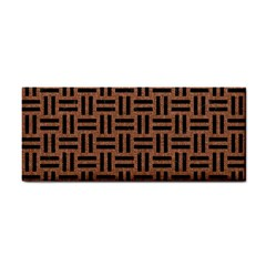 Woven1 Black Marble & Brown Denim Cosmetic Storage Cases