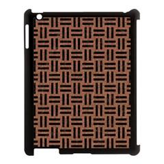 Woven1 Black Marble & Brown Denim Apple Ipad 3/4 Case (black) by trendistuff