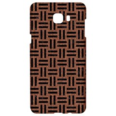 Woven1 Black Marble & Brown Denim Samsung C9 Pro Hardshell Case  by trendistuff