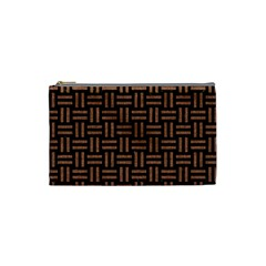Woven1 Black Marble & Brown Denim (r) Cosmetic Bag (small)