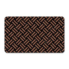 Woven2 Black Marble & Brown Denim (r) Magnet (rectangular) by trendistuff