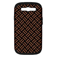 Woven2 Black Marble & Brown Denim (r) Samsung Galaxy S Iii Hardshell Case (pc+silicone) by trendistuff