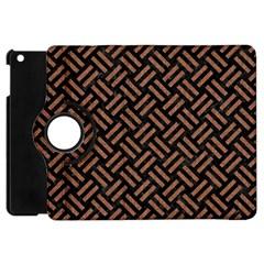 Woven2 Black Marble & Brown Denim (r) Apple Ipad Mini Flip 360 Case by trendistuff