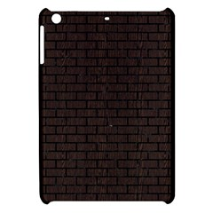 Brick1 Black Marble & Dark Brown Wood Apple Ipad Mini Hardshell Case by trendistuff