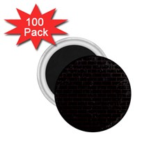 Brick1 Black Marble & Dark Brown Wood (r) 1 75  Magnets (100 Pack)  by trendistuff