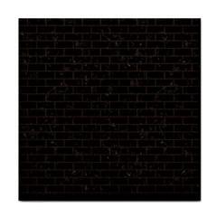 Brick1 Black Marble & Dark Brown Wood (r) Face Towel by trendistuff