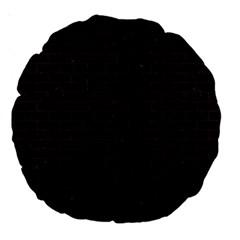 Brick1 Black Marble & Dark Brown Wood (r) Large 18  Premium Round Cushions by trendistuff