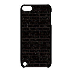 Brick1 Black Marble & Dark Brown Wood (r) Apple Ipod Touch 5 Hardshell Case With Stand by trendistuff