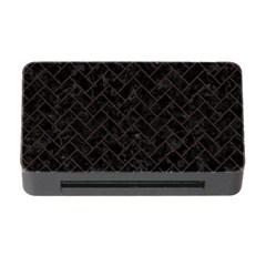 Brick2 Black Marble & Dark Brown Wood (r) Memory Card Reader With Cf by trendistuff