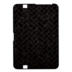 Brick2 Black Marble & Dark Brown Wood (r) Kindle Fire Hd 8 9  by trendistuff
