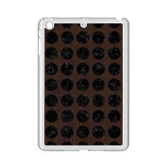 Circles1 Black Marble & Dark Brown Wood Ipad Mini 2 Enamel Coated Cases by trendistuff