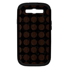 Circles1 Black Marble & Dark Brown Wood (r) Samsung Galaxy S Iii Hardshell Case (pc+silicone) by trendistuff