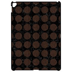 Circles1 Black Marble & Dark Brown Wood (r) Apple Ipad Pro 12 9   Hardshell Case by trendistuff