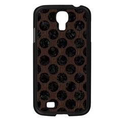 Circles2 Black Marble & Dark Brown Wood Samsung Galaxy S4 I9500/ I9505 Case (black) by trendistuff