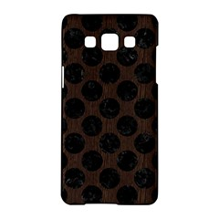 Circles2 Black Marble & Dark Brown Wood Samsung Galaxy A5 Hardshell Case  by trendistuff