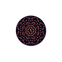 Floral Skulls In The Darkest Environment Golf Ball Marker (10 Pack) by pepitasart