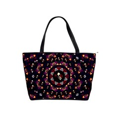 Floral Skulls In The Darkest Environment Shoulder Handbags by pepitasart