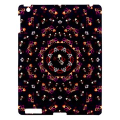 Floral Skulls In The Darkest Environment Apple Ipad 3/4 Hardshell Case by pepitasart
