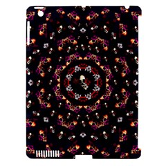 Floral Skulls In The Darkest Environment Apple Ipad 3/4 Hardshell Case (compatible With Smart Cover) by pepitasart