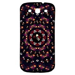 Floral Skulls In The Darkest Environment Samsung Galaxy S3 S Iii Classic Hardshell Back Case by pepitasart