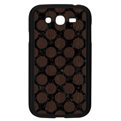 Circles2 Black Marble & Dark Brown Wood (r) Samsung Galaxy Grand Duos I9082 Case (black) by trendistuff