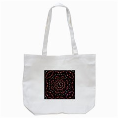 Floral Skulls In The Darkest Environment Tote Bag (white) by pepitasart