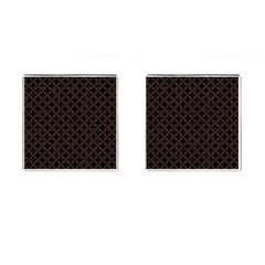 Circles3 Black Marble & Dark Brown Wood (r) Cufflinks (square) by trendistuff