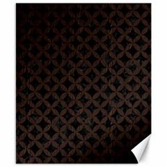Circles3 Black Marble & Dark Brown Wood (r) Canvas 8  X 10  by trendistuff