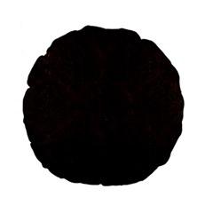 Damask1 Black Marble & Dark Brown Wood Standard 15  Premium Flano Round Cushions by trendistuff