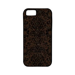 Damask2 Black Marble & Dark Brown Wood Apple Iphone 5 Classic Hardshell Case (pc+silicone) by trendistuff