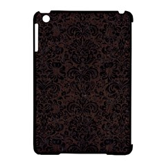 Damask2 Black Marble & Dark Brown Wood Apple Ipad Mini Hardshell Case (compatible With Smart Cover) by trendistuff