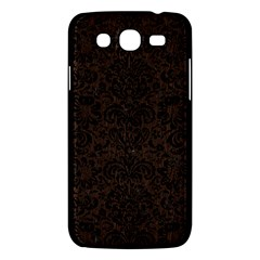 Damask2 Black Marble & Dark Brown Wood Samsung Galaxy Mega 5 8 I9152 Hardshell Case  by trendistuff