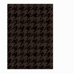 Houndstooth1 Black Marble & Dark Brown Wood Large Garden Flag (two Sides) by trendistuff