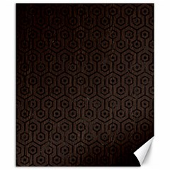 Hexagon1 Black Marble & Dark Brown Wood Canvas 20  X 24   by trendistuff